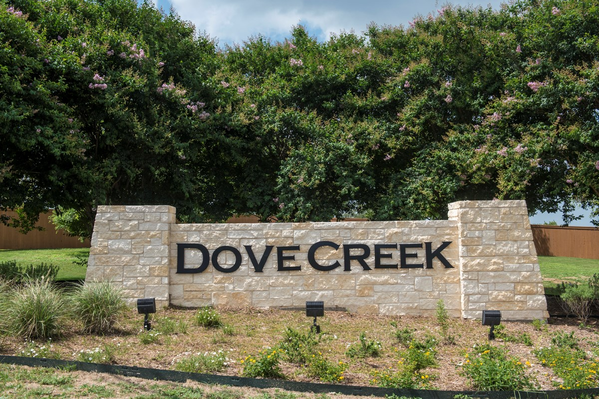 New Homes in San Antonio, TX - Dove Creek Community Entry