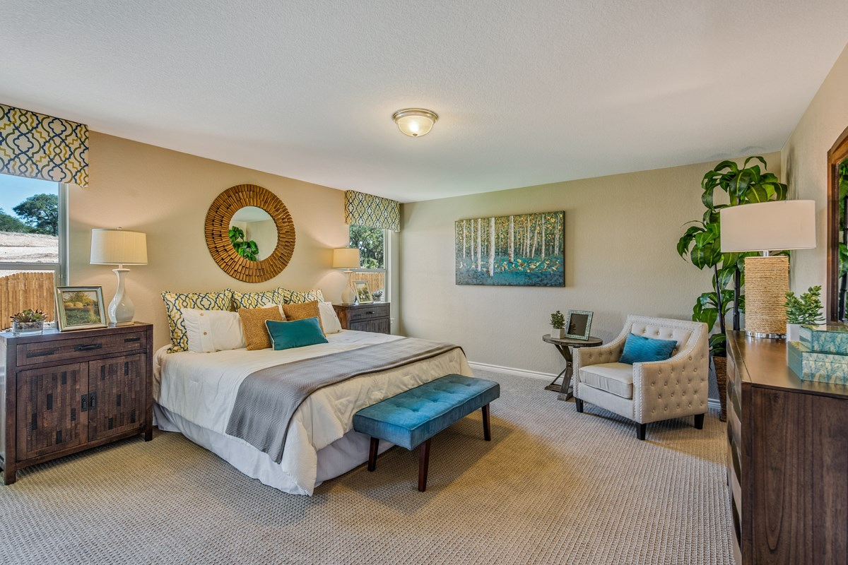 New Homes in Bulverde, TX - Edgebrook The 2755 Master Bedroom