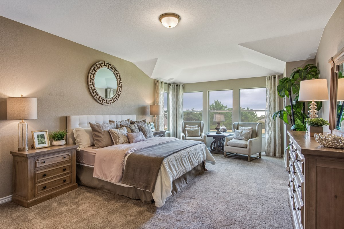 New Homes in Bulverde, TX - Edgebrook The 3125 Master Bedroom