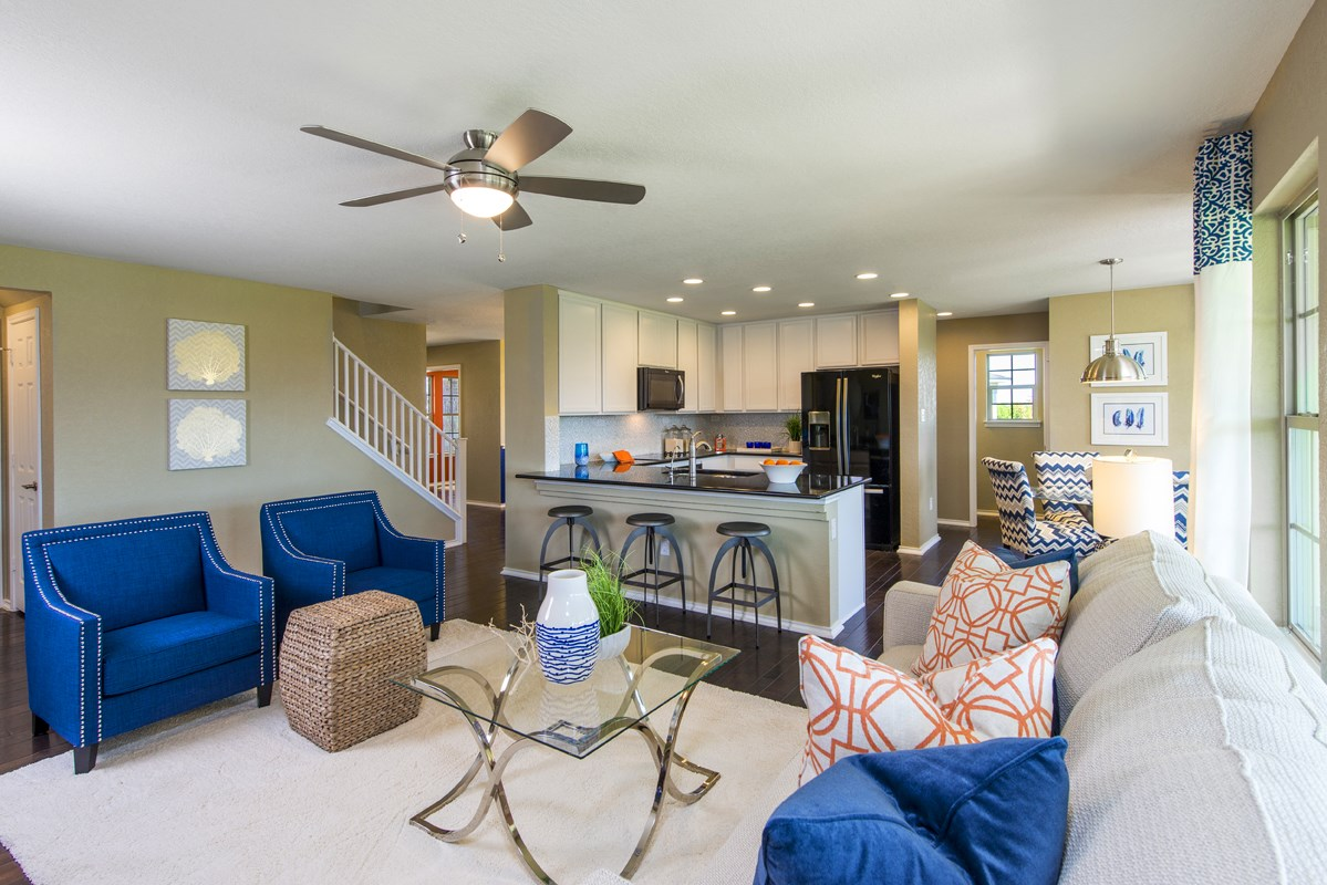 New Homes in San Antonio, TX - Falcon Landing The 2505 Great Room