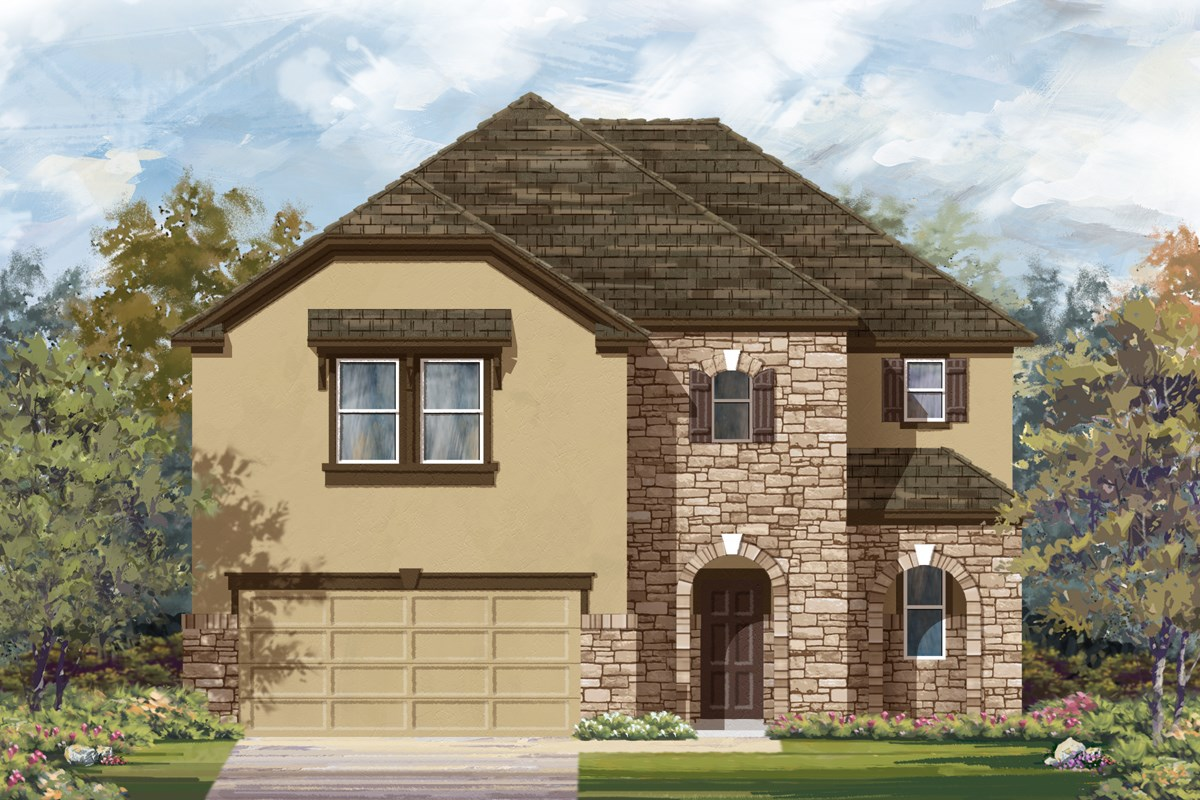 New Homes in San Antonio, TX - Canyon Crest The 2183 D