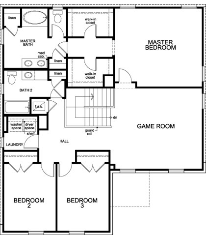Plan 2469 New Home Floor Plan in CrossCreek Classic Collection – Kimball Hill Homes Floor Plans