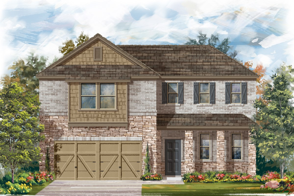 New Homes in San Antonio, TX - Canyon Crest The 2502 C