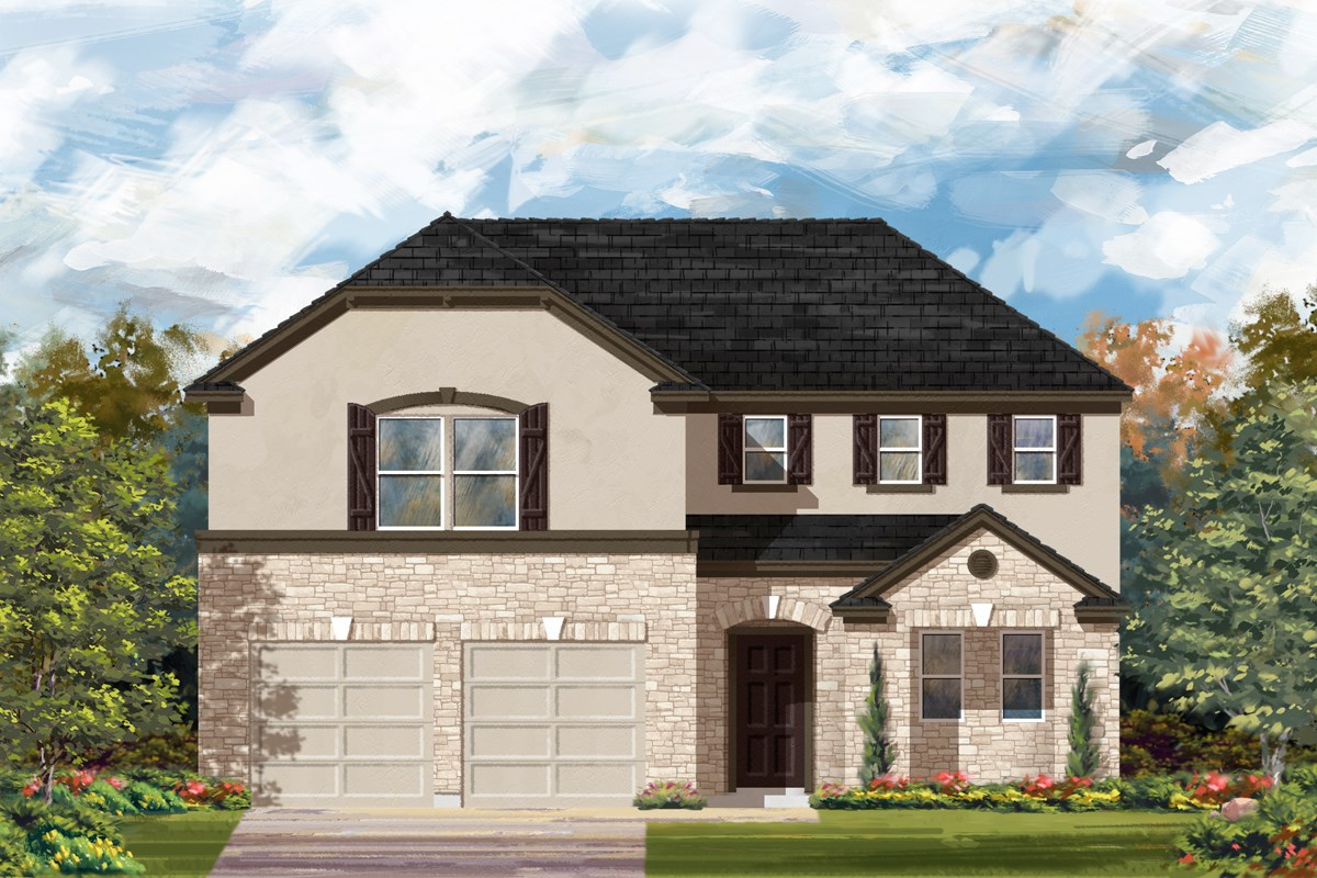 New Homes in San Antonio, TX - Canyon Crest The 2502 D