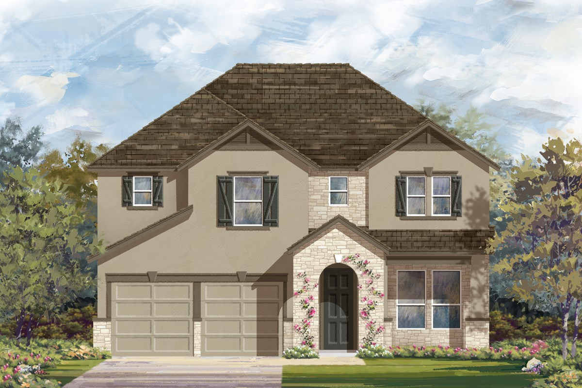 New Homes in San Antonio, TX - Hidden Bluffs at TRP The 2755