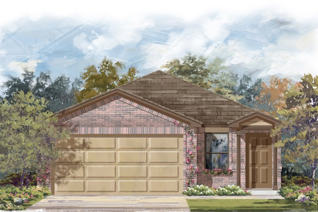 New Homes in San Antonio, TX - Plan 1340 C