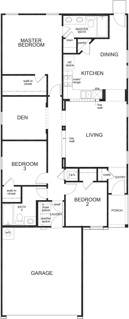 Plan 1378 New Home Floor Plan In Crosscreek Sterling
