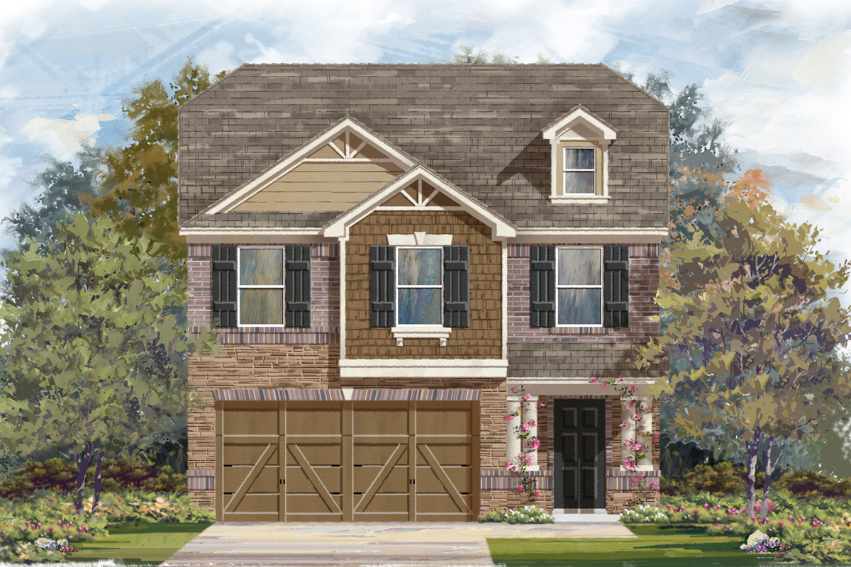 Plan 1909 new home floor plan in heritage park by kb home for House plans san antonio