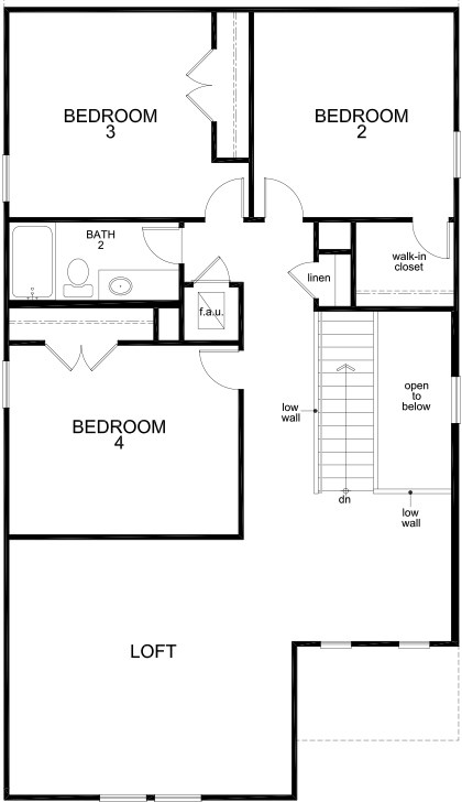 New Homes in San Antonio, TX - Plan 2519, Second Floor