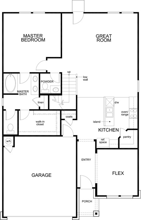 New Homes in New Braunfels, TX - Plan 2700, First Floor