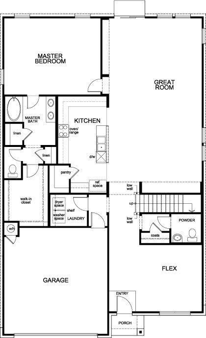 New Homes in Cibolo, TX - Plan 3417, First Floor