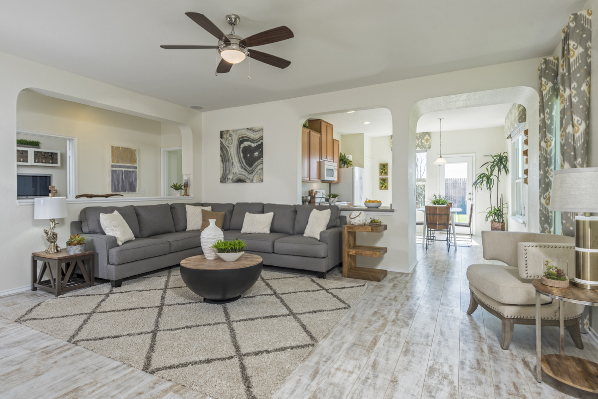 New Homes In San Antonio, TX   Heights At Northeast Crossing The 1516  Living Room