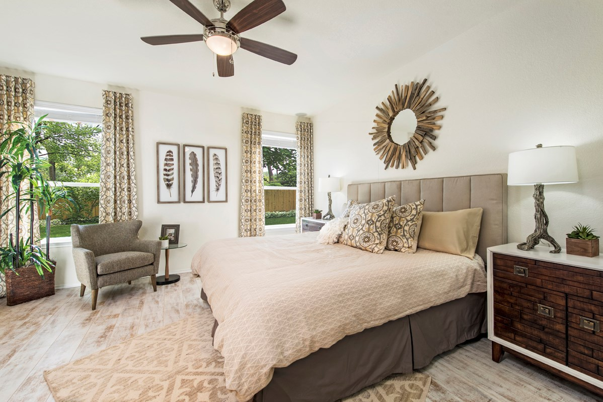 New Homes in San Antonio, TX - Heights at Northeast Crossing The 1516 Master Bedroom
