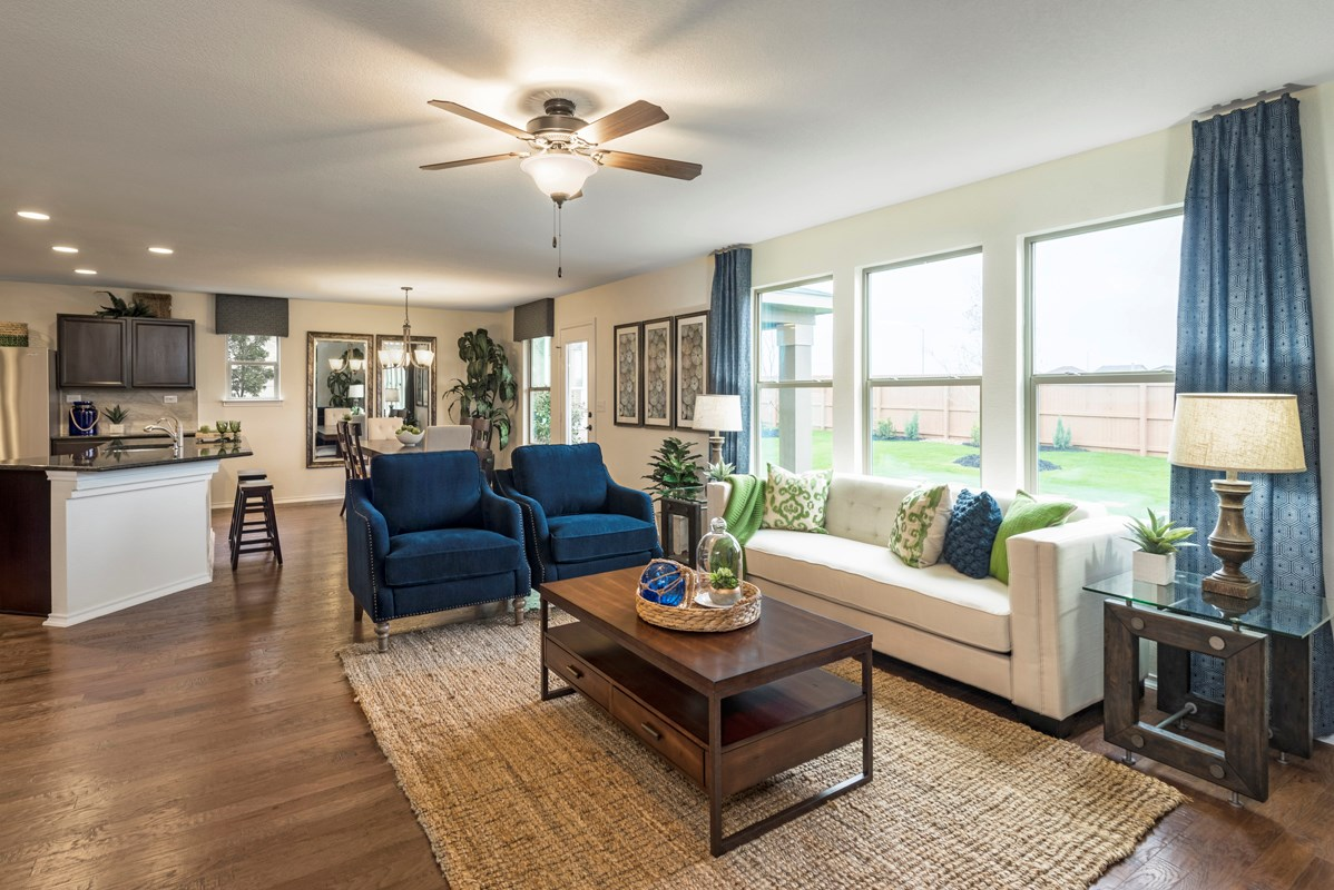 New Homes in San Antonio, TX - Heights at Northeast Crossing The 2403 Great Room