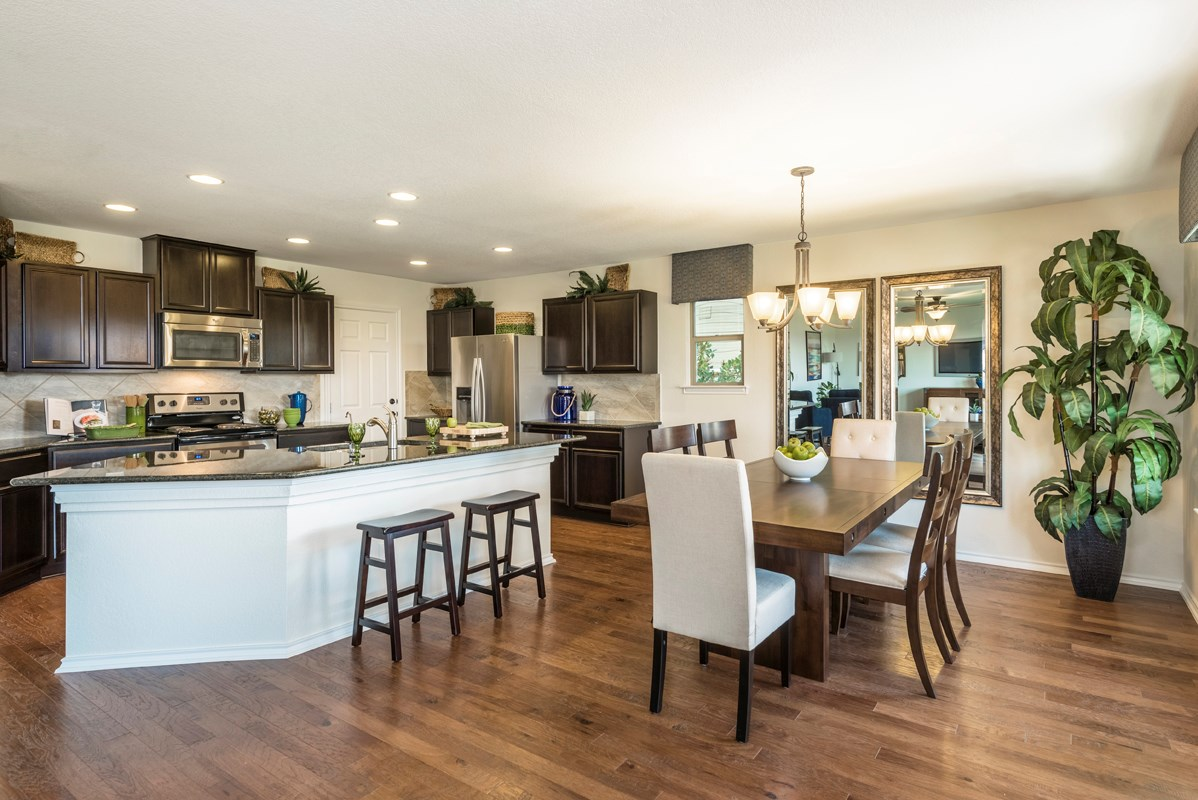 New Homes in San Antonio, TX - Heights at Northeast Crossing The 2403 Kitchen and Dining