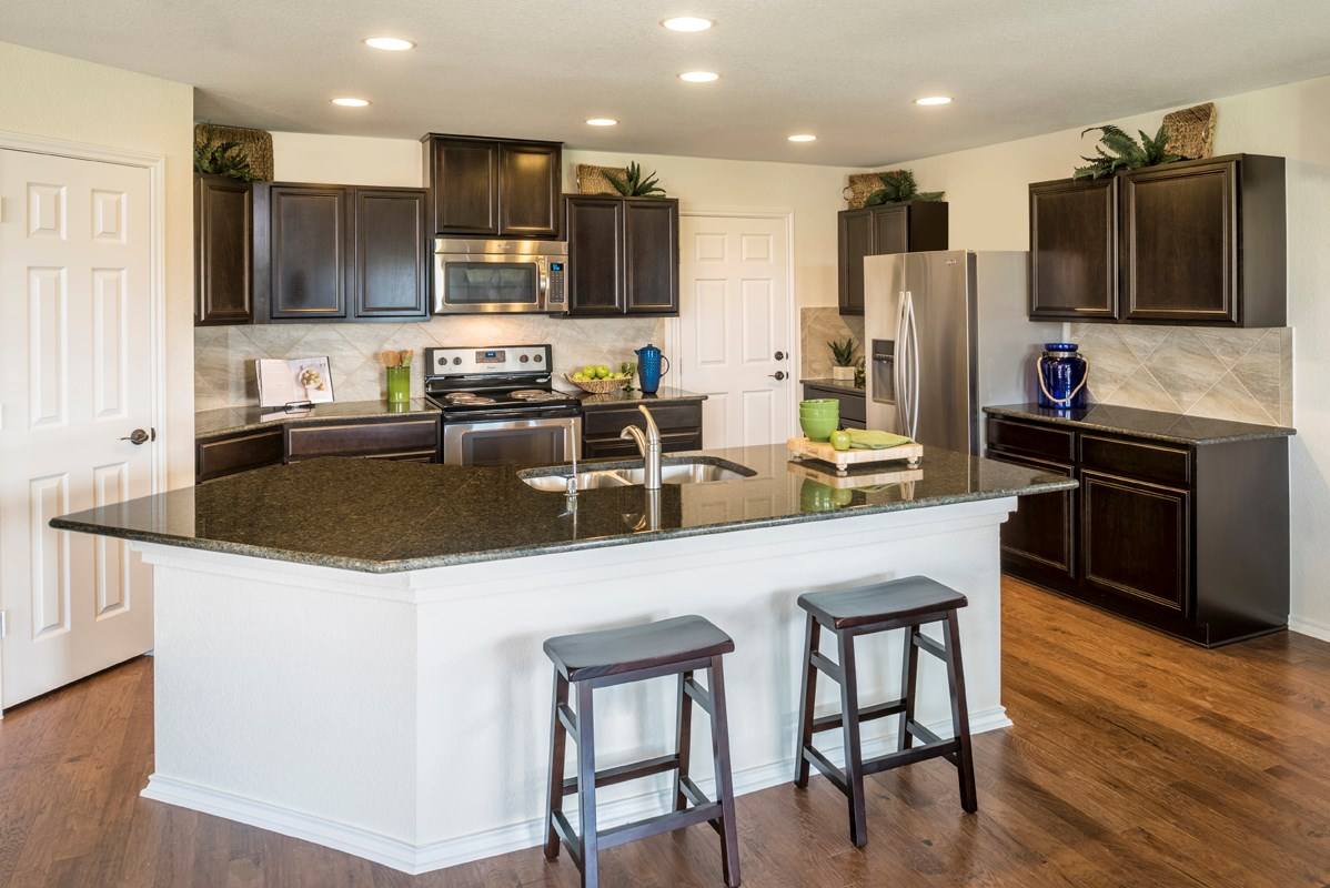 New Homes in San Antonio, TX - Heights at Northeast Crossing The 2403 Kitchen