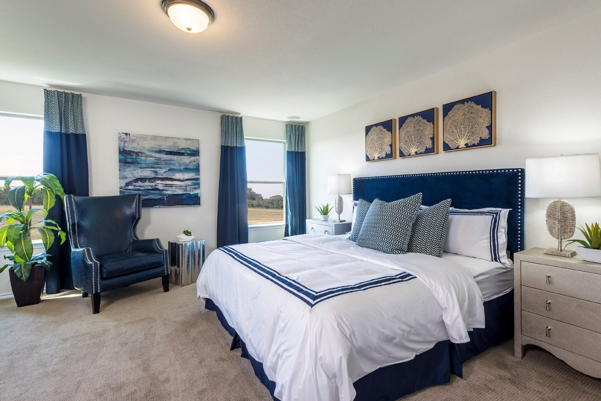 New Homes in San Antonio, TX - Northeast Crossing The 2403 Master Bedroom