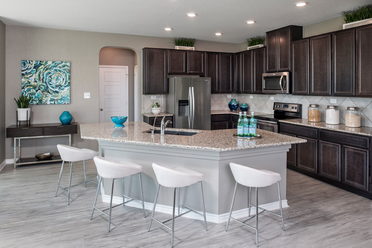New Homes in San Antonio, TX - Hidden Bluffs at TRP The 2755 Kitchen
