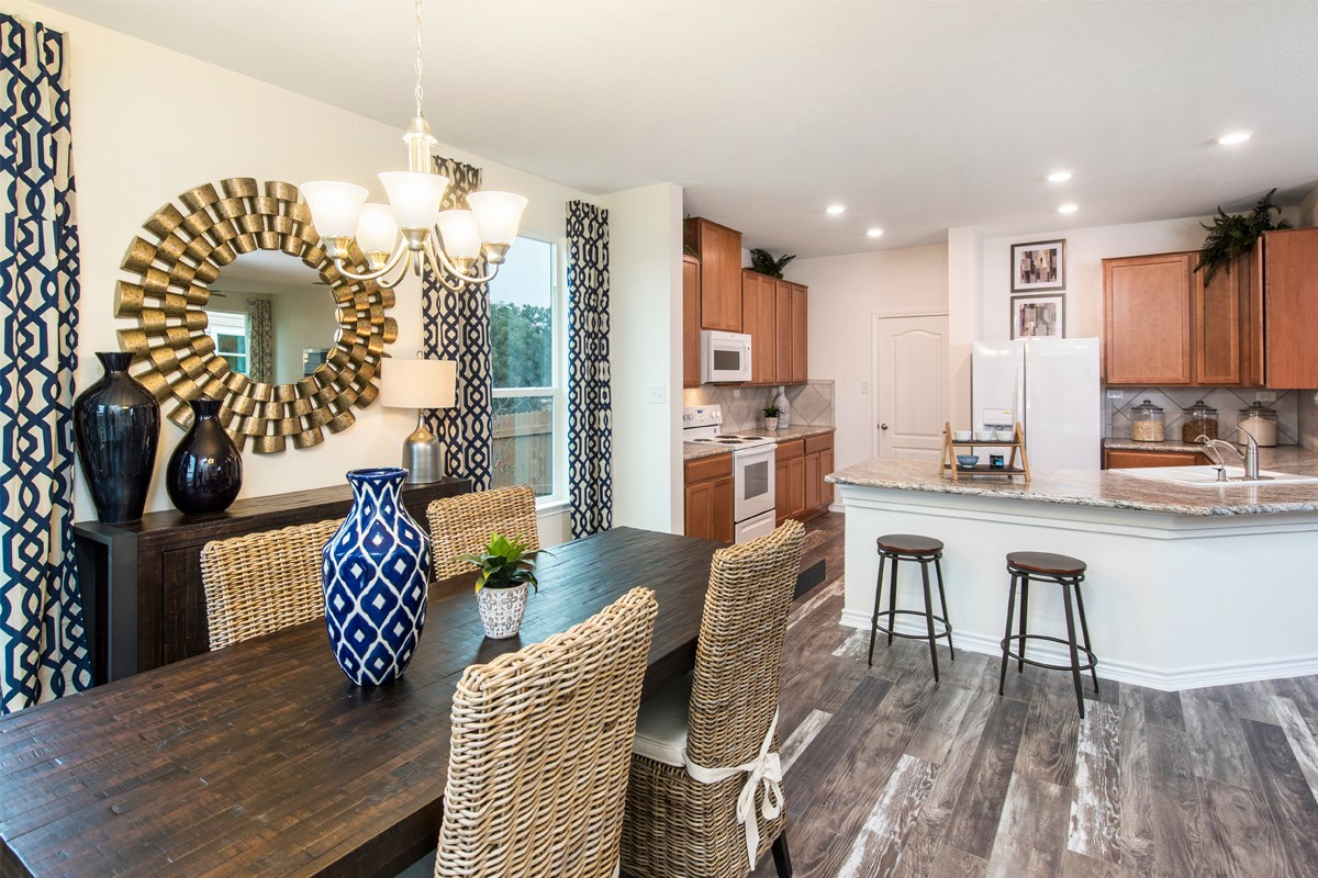 New Homes in San Antonio, TX - Hidden Canyons at TRP The 1647 Dining & Kitchen