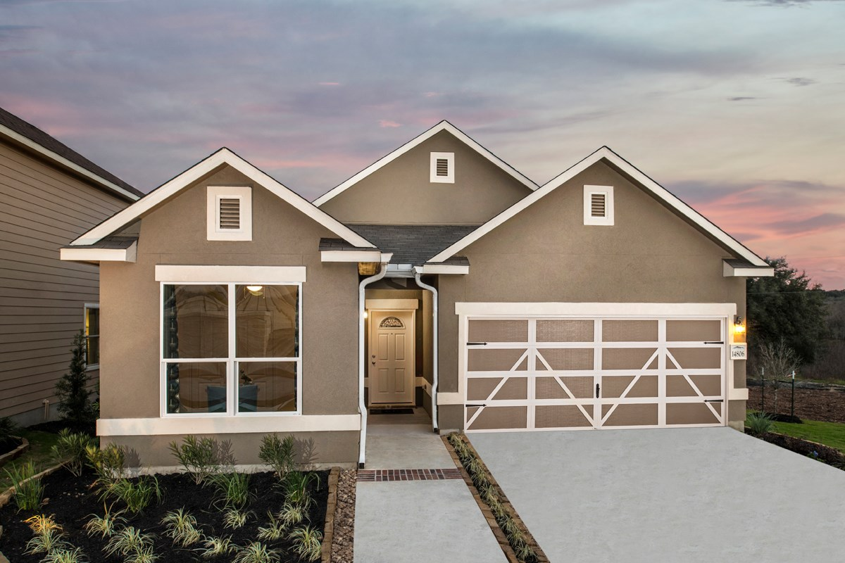 New Homes in San Antonio, TX - The Reserve at Southton Ranch The 1647 as modeled at Hidden Canyons at TRP