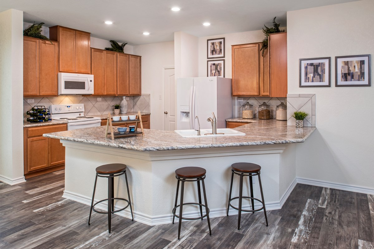 New Homes in San Antonio, TX - Hidden Canyons at TRP The 1647 Kitchen