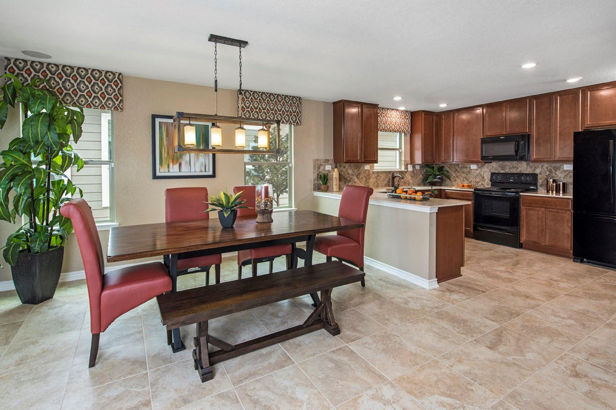New Homes in San Antonio, TX - Hidden Canyons at TRP The 2239 Dining & Kitchen