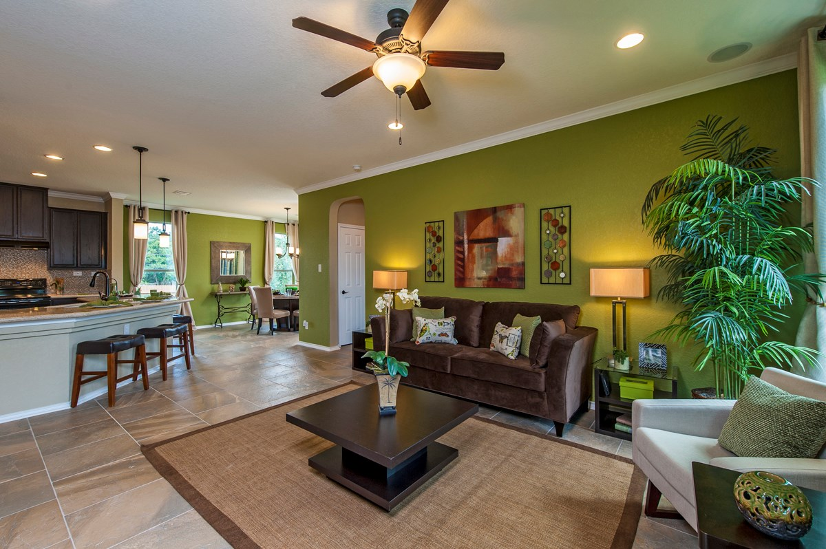 New Homes in San Antonio, TX - Ironwood at Crestway The 1647 Great Room