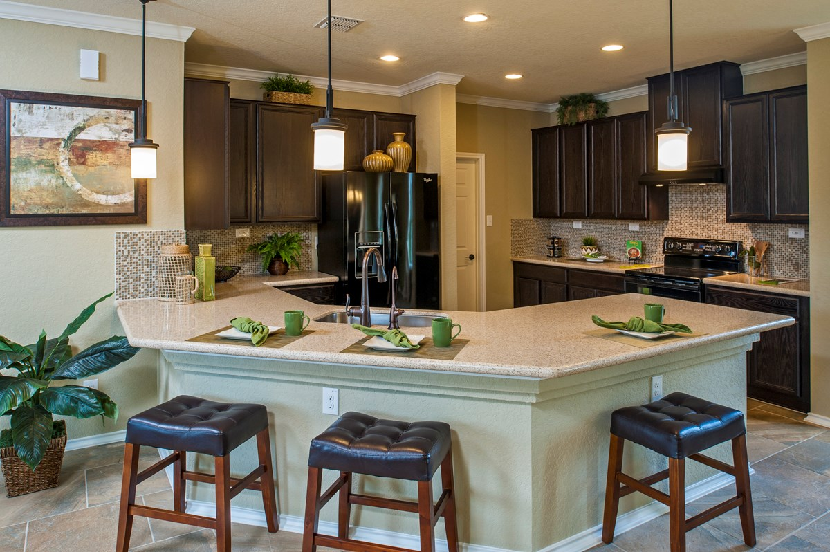 New Homes in San Antonio, TX - Ironwood at Crestway The 1647 Kitchen