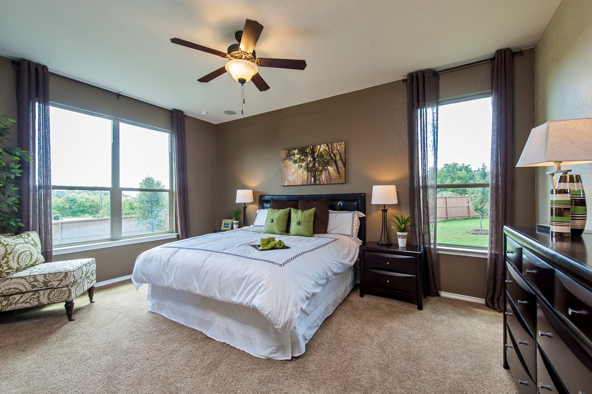 New Homes in San Antonio, TX - Ironwood at Crestway The 1647 Master Bedroom