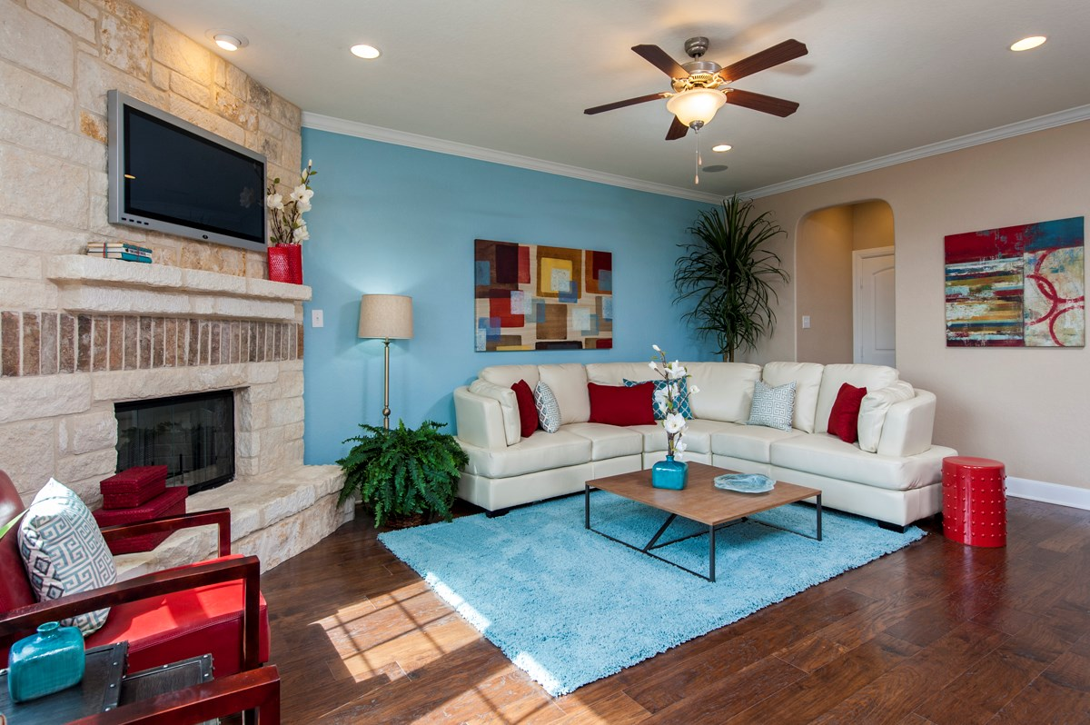 New Homes in San Antonio, TX - Ironwood at Crestway The 2505 Family Room
