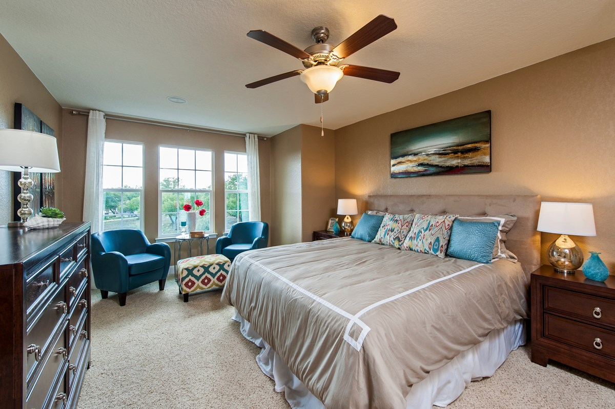 New Homes in San Antonio, TX - Ironwood at Crestway The 2505 Master Bedroom