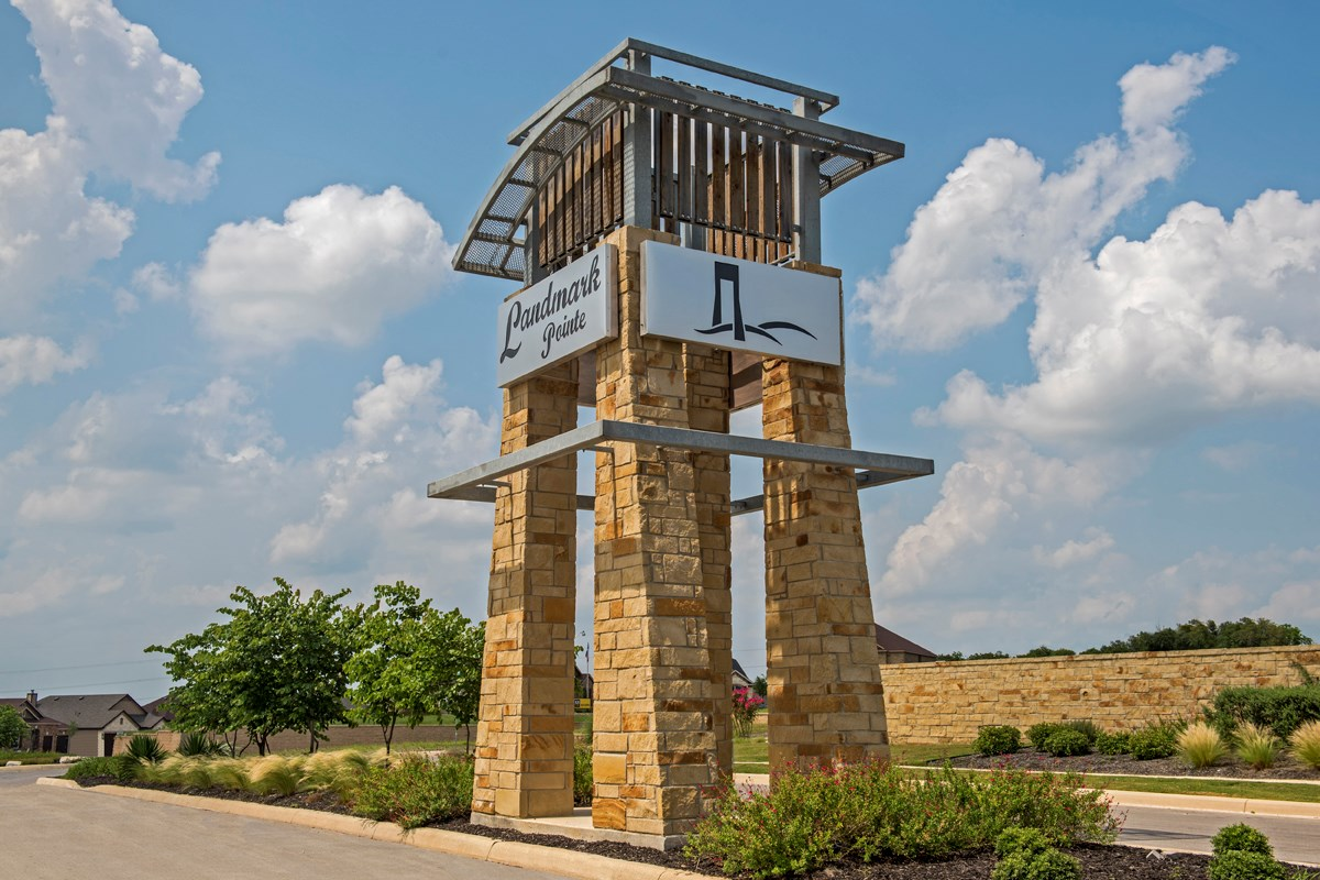 New Homes in Cibolo, TX - Landmark Pointe Community Entry
