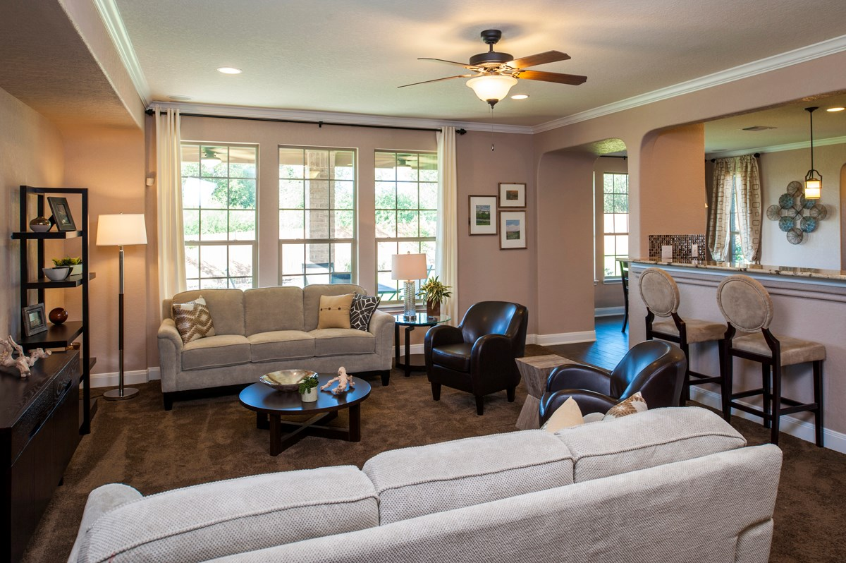 New Homes in Cibolo, TX - Landmark Pointe The 3125 Family Room