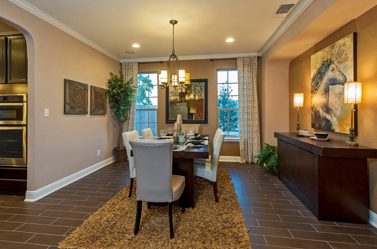 New Homes in Cibolo, TX - Landmark Pointe The 3125 Dining Room