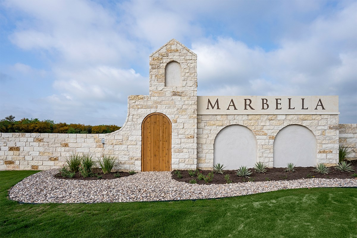 New Homes in San Antonio, TX - Marbella Entry Monument