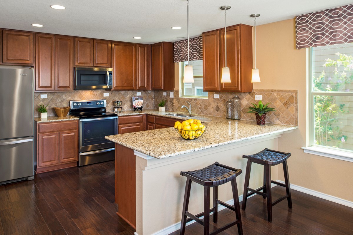 New Homes in San Antonio, TX - Misiones The 2239 Kitchen - As Modeled at Miller Ranch