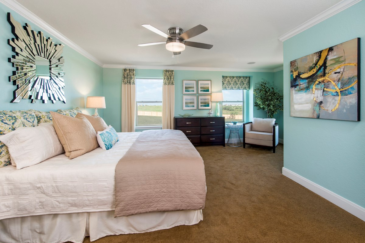 New Homes in San Antonio, TX - Misiones The 2239 Master Bedroom - As Modeled at Miller Ranch