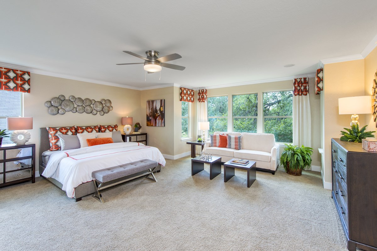 New Homes in Boerne, TX - Mirabel The 3475 Master Bedroom