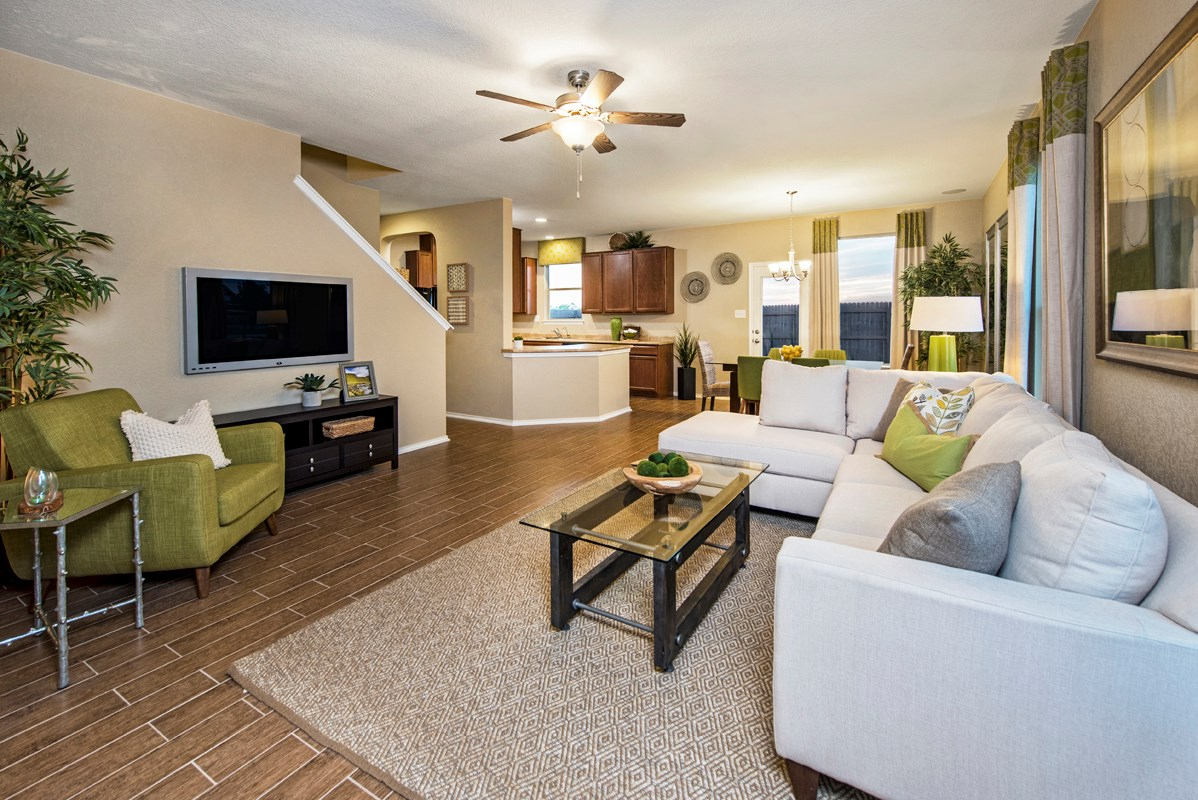 New Homes in San Antonio, TX - Misiones The 1909 Living Room