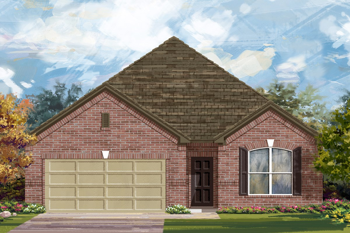 New Homes in San Antonio, TX - Lakeview The 1852 Elevation 1