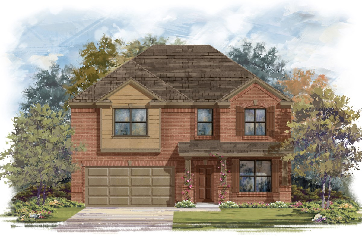 New Homes in San Antonio, TX - Lakeview The 2755 Elevation 2