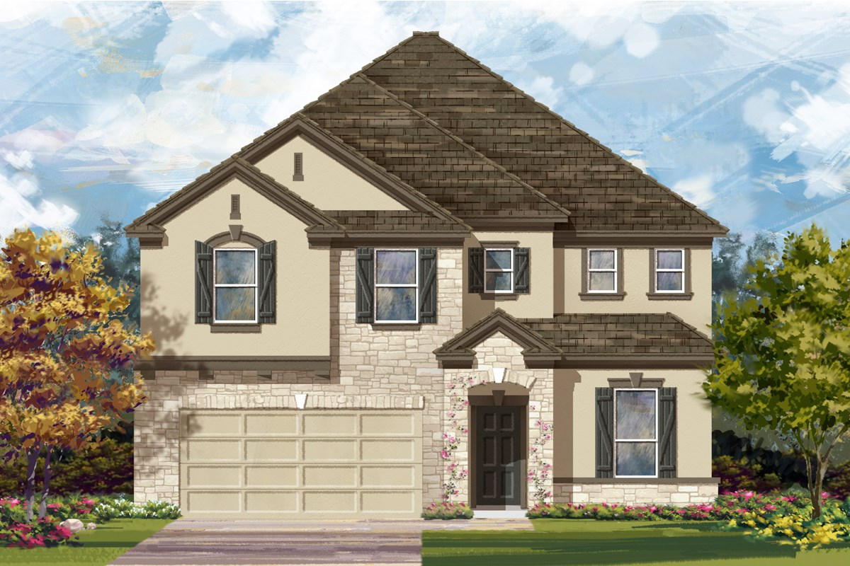New Homes in San Antonio, TX - The Oaks at Cobblestone The 3475 D