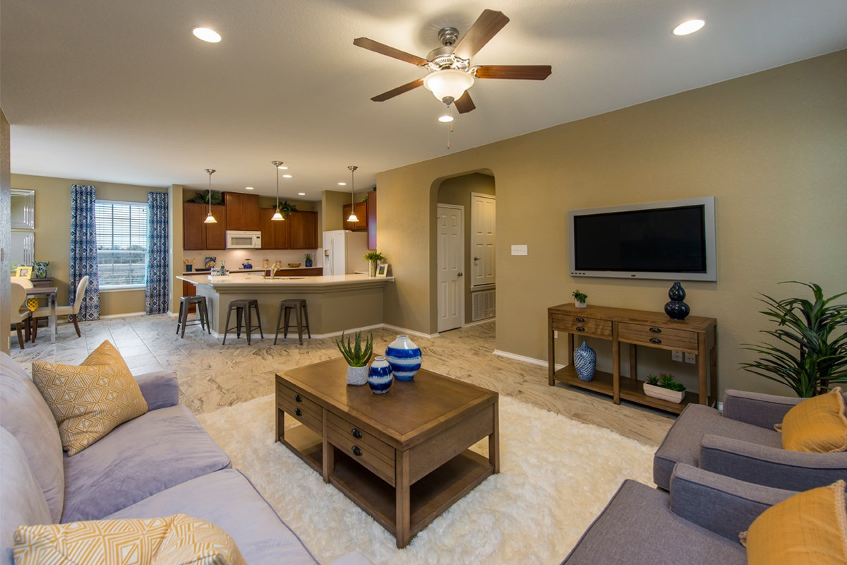 New Homes in San Antonio, TX - The Reserve at Southton Ranch The 1647 Great Room