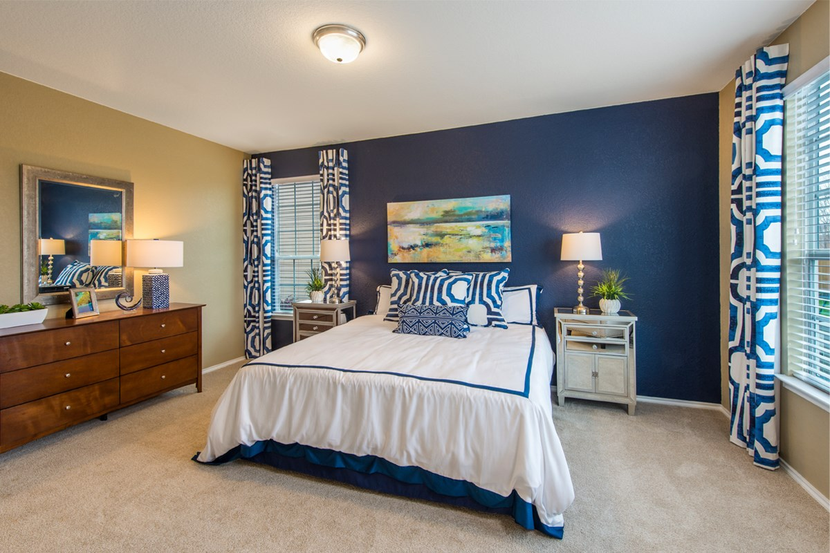 New Homes in San Antonio, TX - The Reserve at Southton Ranch The 1647 Master Bedroom