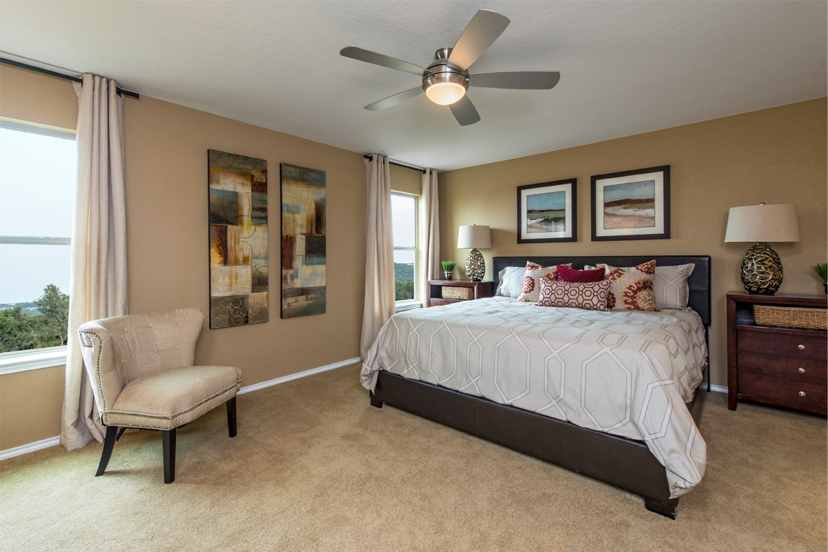 New Homes in San Antonio, TX - The Reserve at Southton Ranch The 2239 Master Bedroom