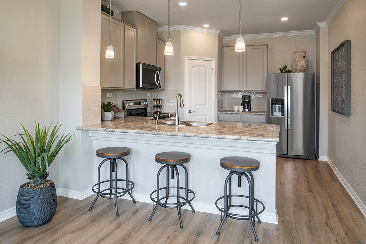 New Homes in San Antonio, TX - The Overlook at Medio Creek The 1772 Kitchen