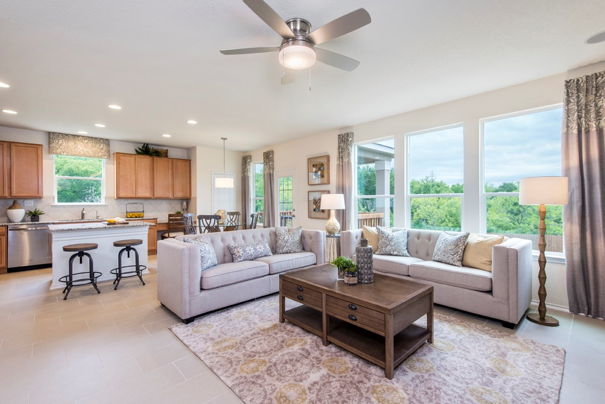 New Homes in San Antonio, TX - The Overlook at Medio Creek The 2708 Great Room