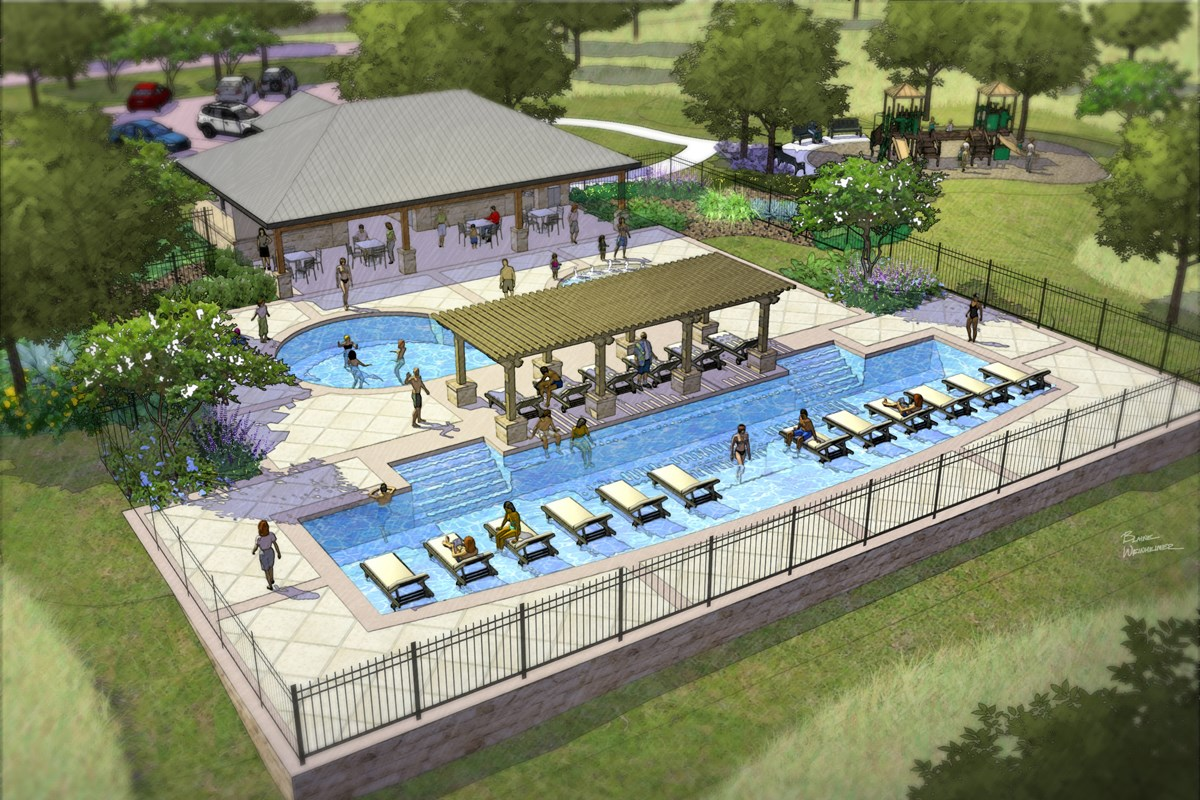 New Homes in San Antonio, TX - The Overlook at Medio Creek Planned Community Amenity Center