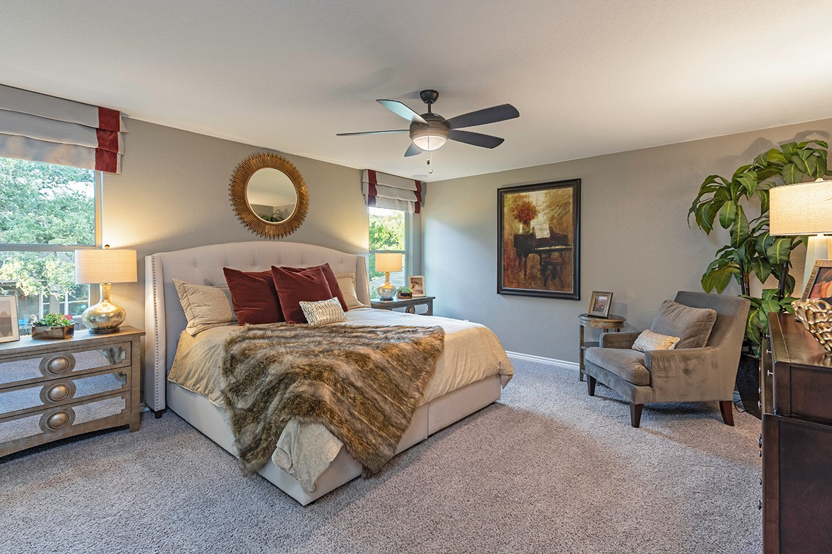 New Homes in Helotes, TX - The Ridge at Bandera The 2755 Master Bedroom