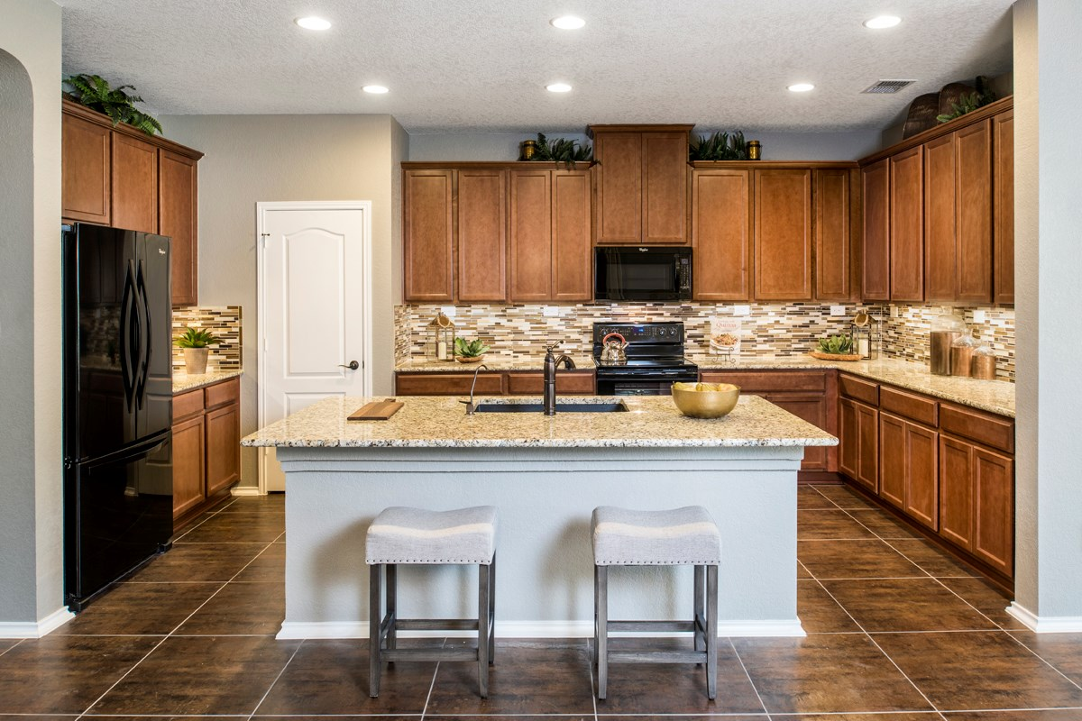 New Homes in Helotes, TX - The Ridge at Bandera The 3417 Kitchen